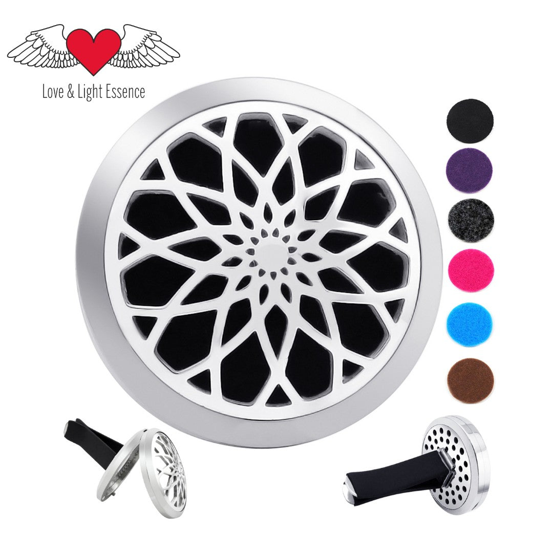 Essential Oil Car Jewellery Diffuser - Raised Lotus Flower