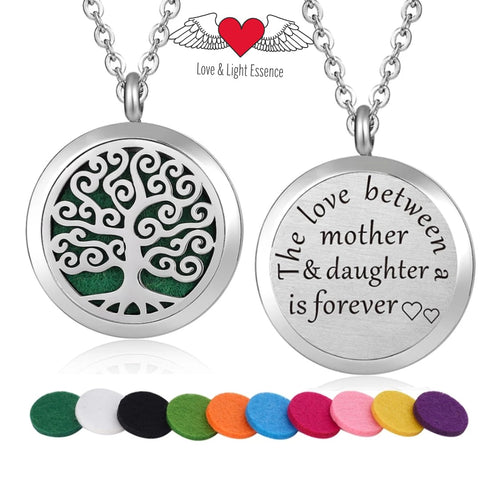 Affirmation- Essential Oil Diffuser Necklace- Mother & Daughter