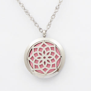 Essential Oil Diffuser Necklace - Flower of Life