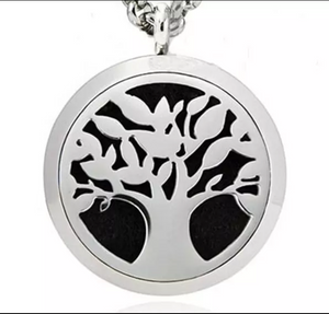 Essential Oil Diffuser Necklace - Grounding Tree