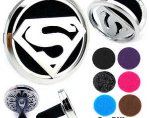 Essential Oil Car Jewelry Diffuser - Superman