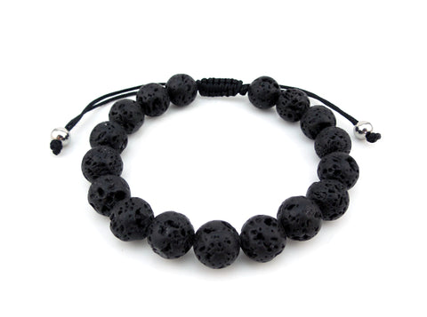 Adjustable Lava Stone Bracelet- Adults