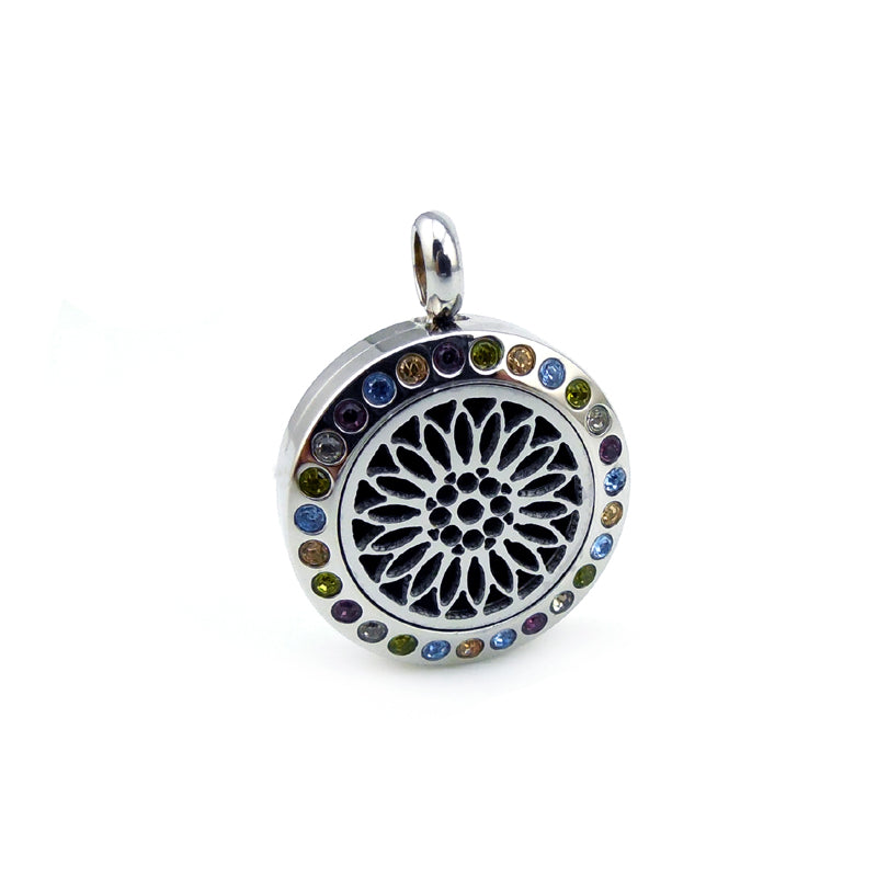 Kid's Essential Oil Diffuser Necklace - Sunflower with crystals
