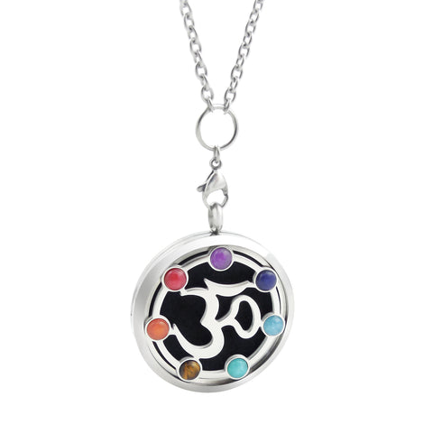 Chakra Essential Oil Diffuser Necklace - OM