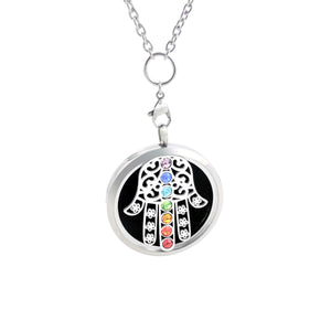 Chakra Essential Oil Diffuser Necklace - HASMA HAND