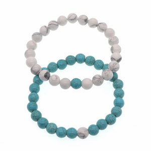 Love and Light Essence - Couples Yin/ Yang Bracelet Sets - Howlite & Turquoise