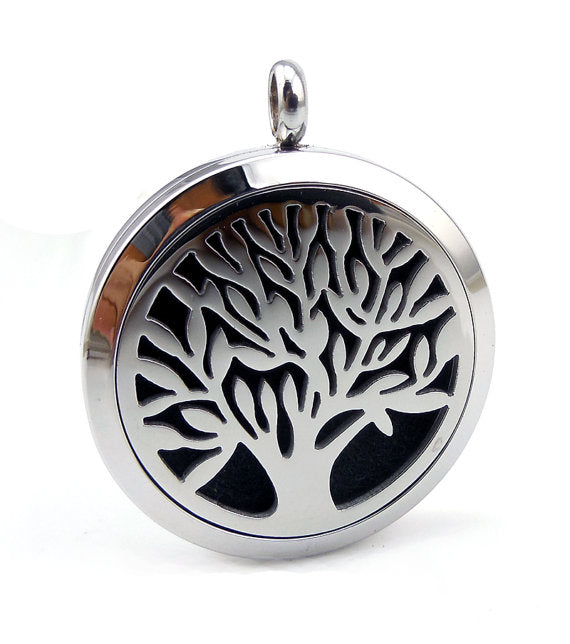Love and Light Essence - Essential Oil Diffuser Necklace - Tree of Life 1