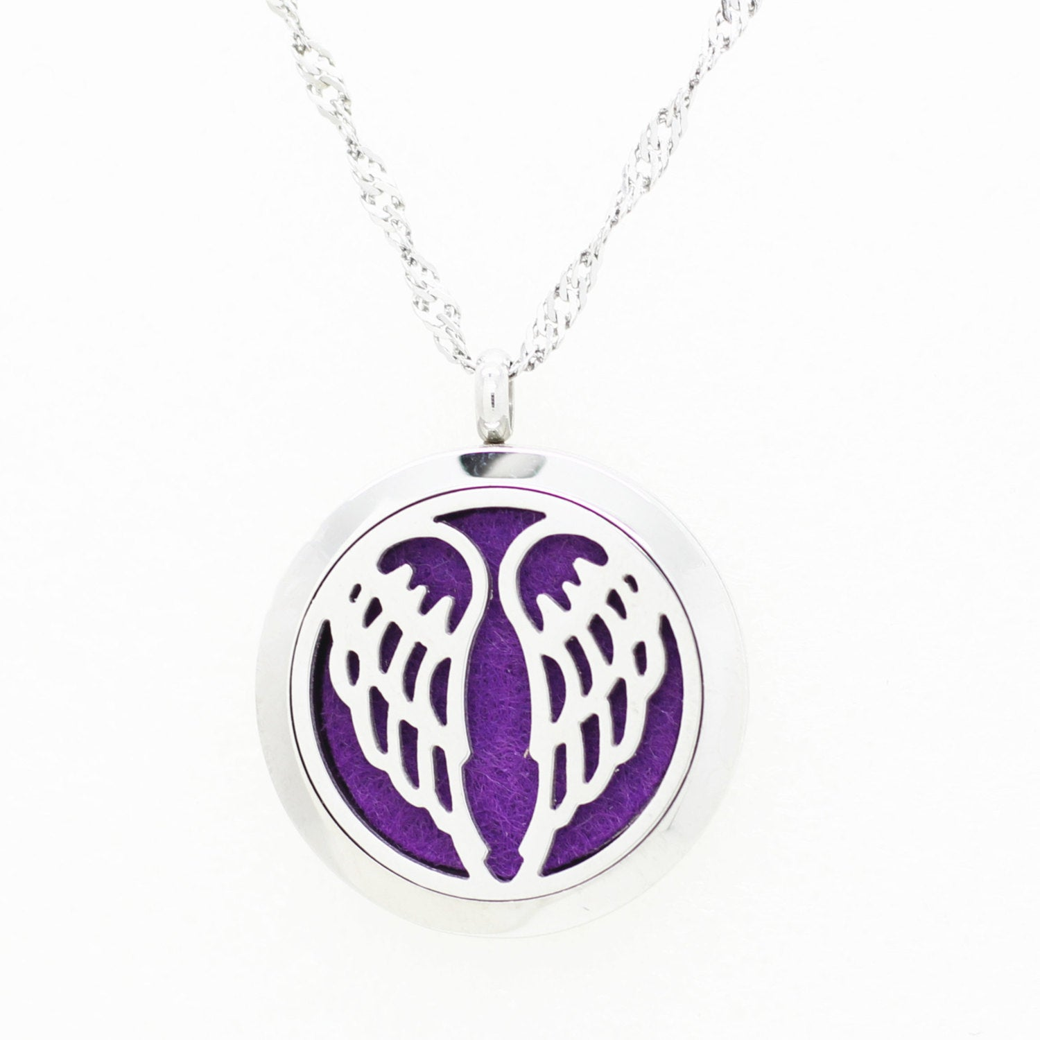 Love and Light Essence - Essential Oil Diffuser Necklace - Angel Wings