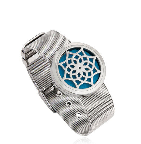 Love and Light Essence - Essential Oil Diffuser Mesh Bracelet - Flower of Life