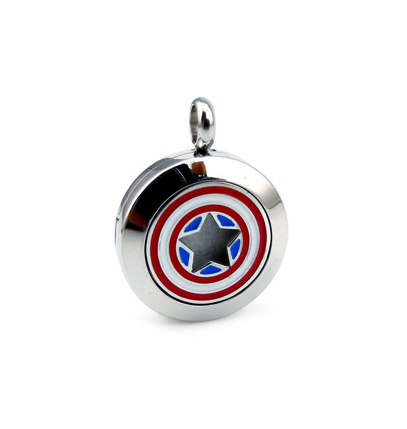 Love and Light Essence - Kid's Essential Oil Diffuser Necklace - Captain America
