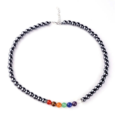 Love and Light Essence - Chakra Balancing Lava Stone & Hematite Necklaces