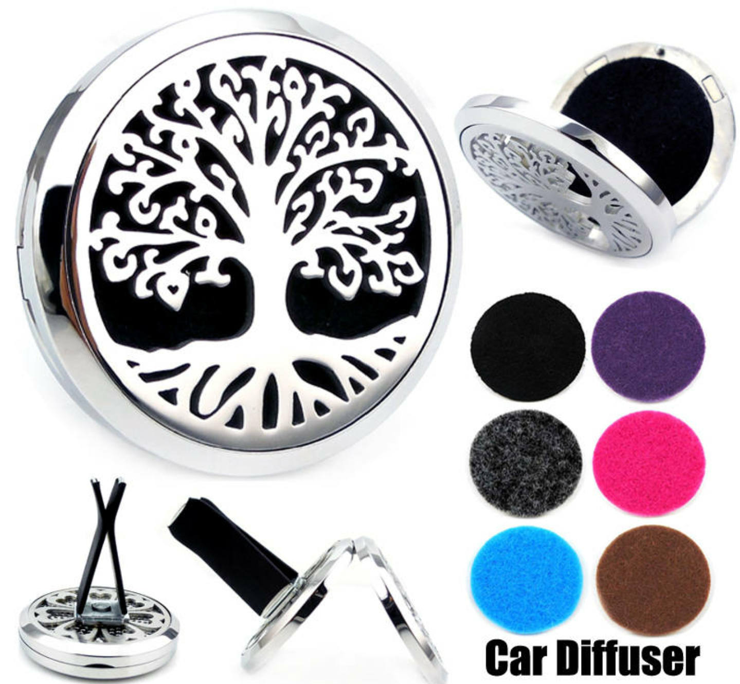 Love and Light Essence - Essential Oil Car Jewelry Diffuser - Tree of Life 1