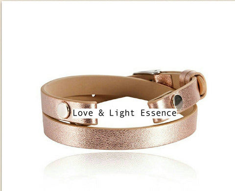 Love and Light Essence - Leather Wrap - Rose Gold