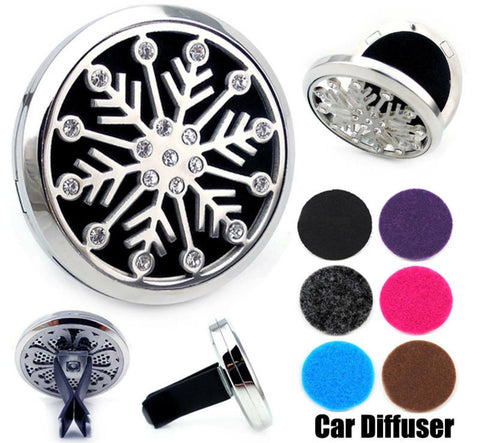 Love and Light Essence - Essential Oil Car Jewellery Diffuser - Bling Snowflake