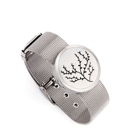 Love and Light Essence - Essential Oil Diffuser Mesh Bracelet - Tree of Life 2