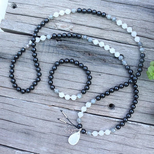 108 Labrodiate Mala Necklace & Bracelet Set