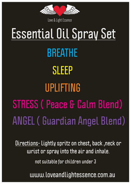 Essential Oil Spray Set