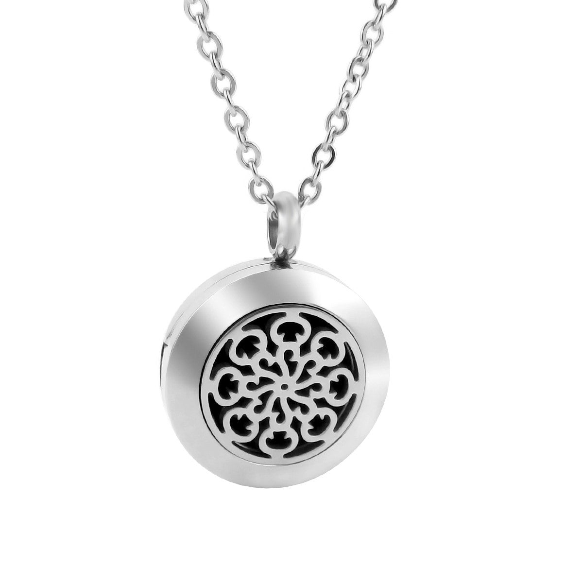 Petite Diffuser Necklace - Small Spiral Pattern