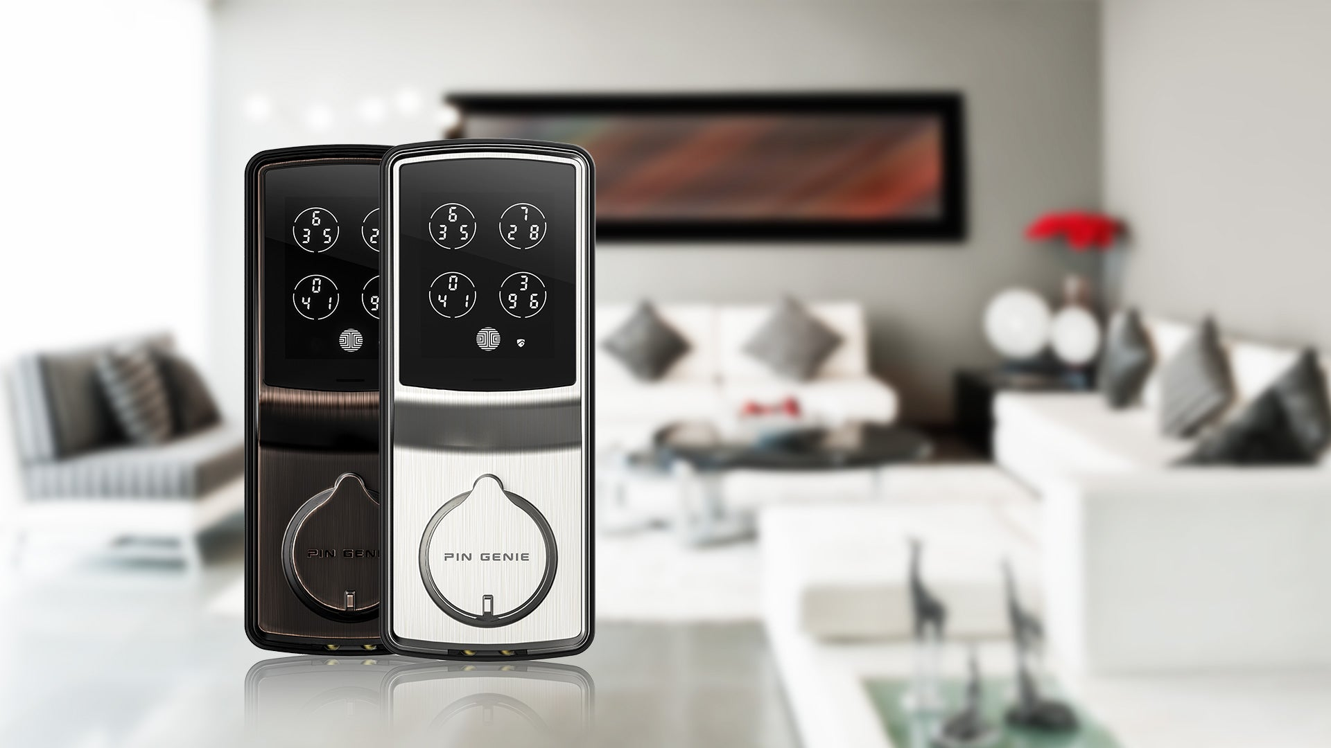 Discreet Peek-proof digital smart lock