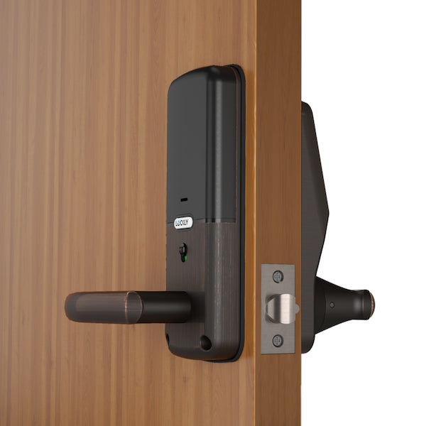 Lockly® Secure Plus Latch Lock (PGD628F), PIN Genie™ patented digital Keypad + 3D Fingerprint + Bluetooth App + Key (Indoor Lock)