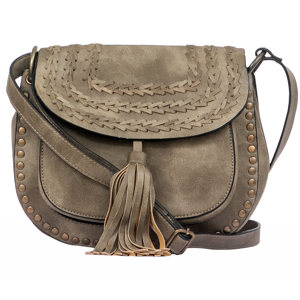Grey Saddle Bag
