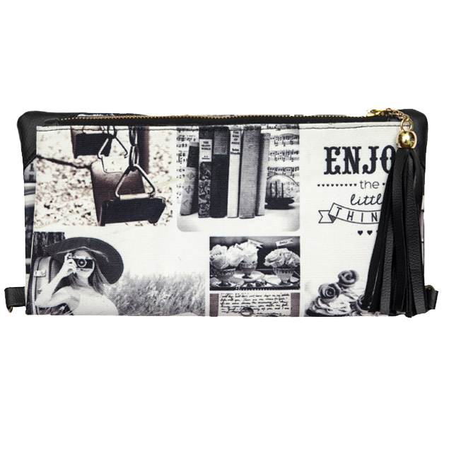 Black N White Clutch & Sling