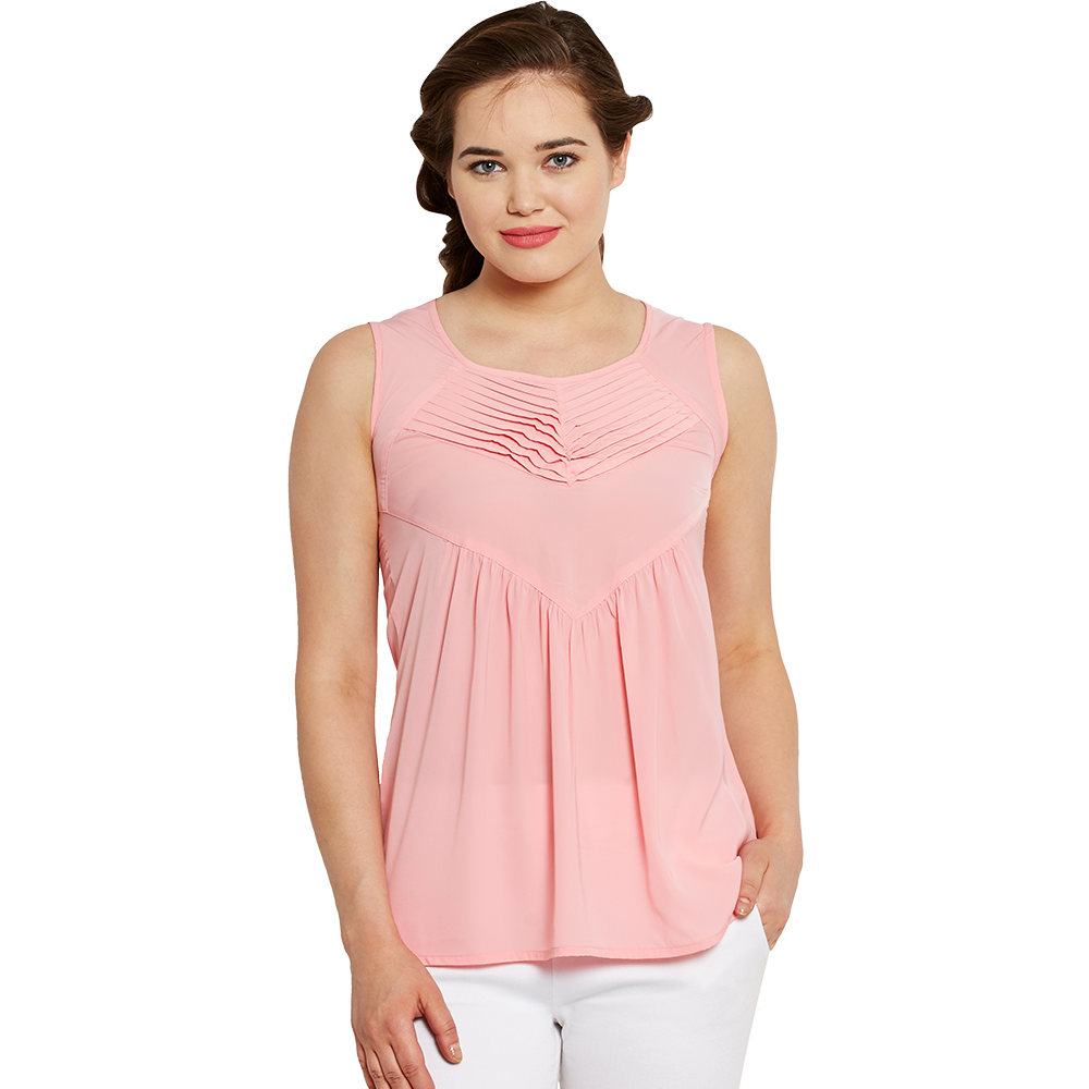 Pink Sleeveless Top