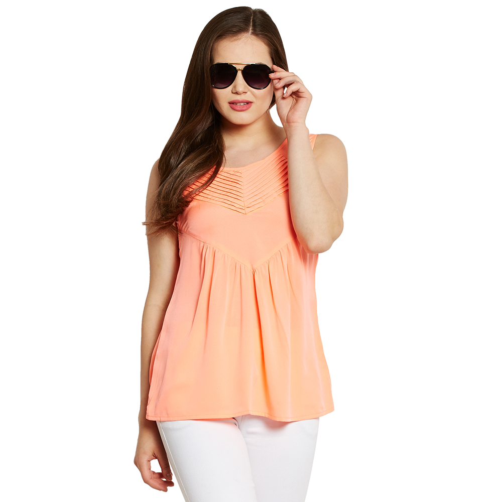 Orange Sleeveless Top
