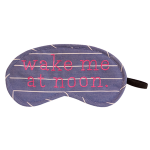 Wake Me At Noon (Blue) Eye Mask