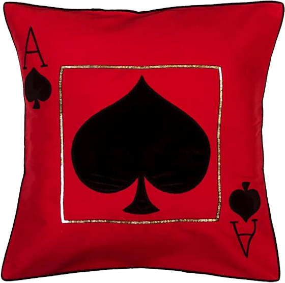 Ace Of Spade Cushion Cover