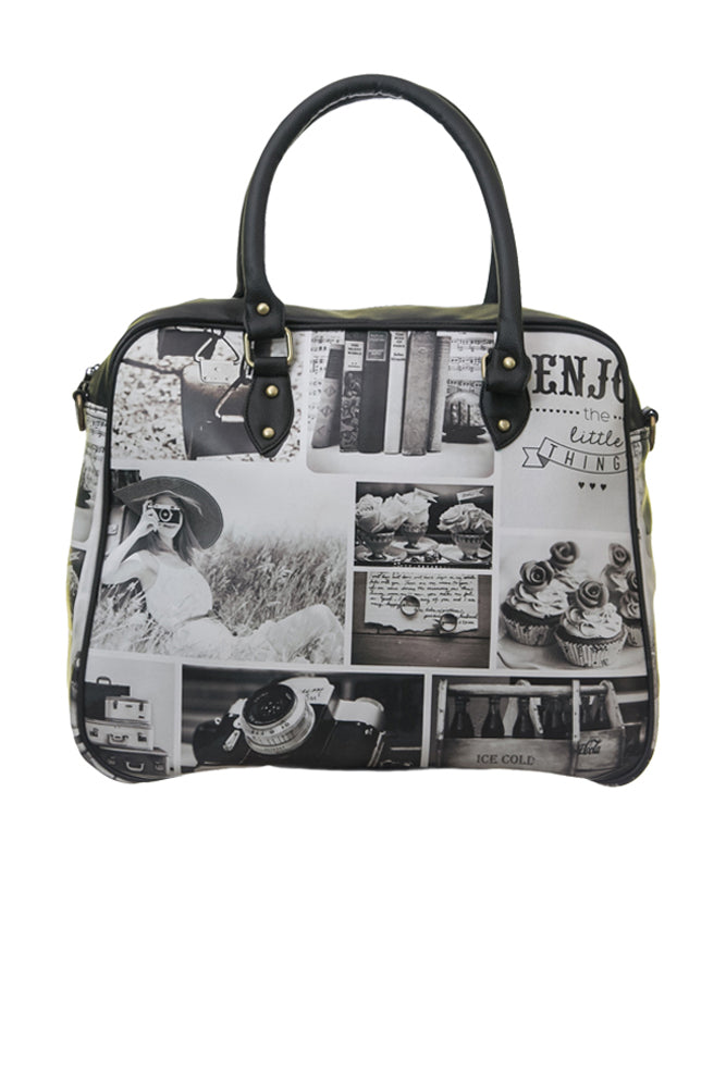 Black N White Travel Bag