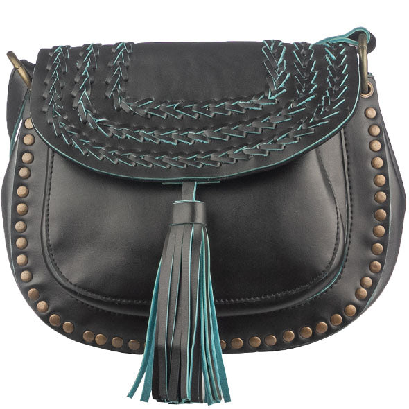 Black & Blue Saddle Bag