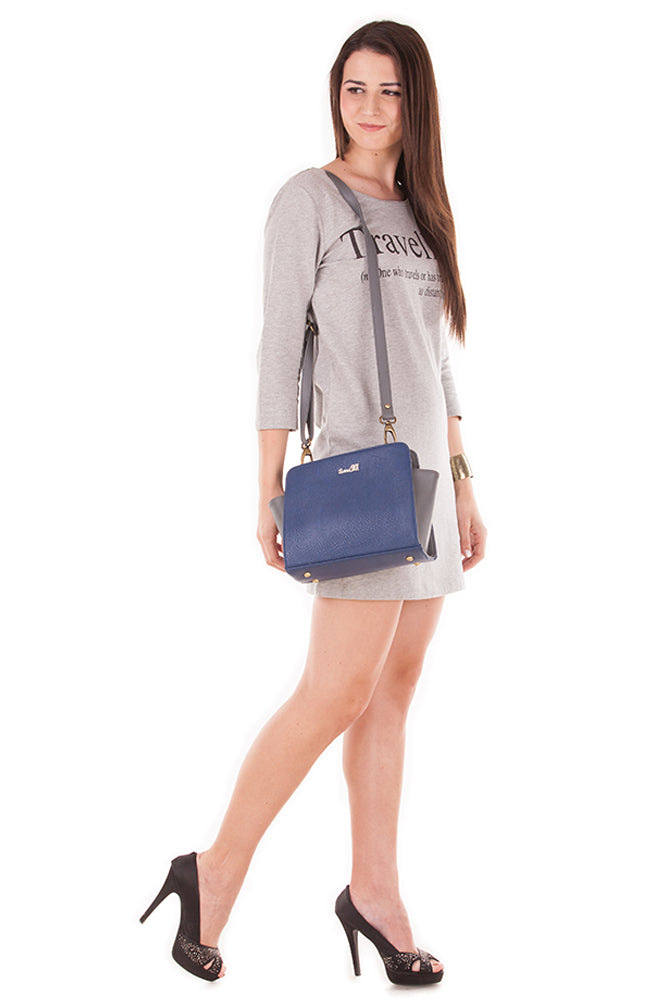 Blue & Grey Fab Bag