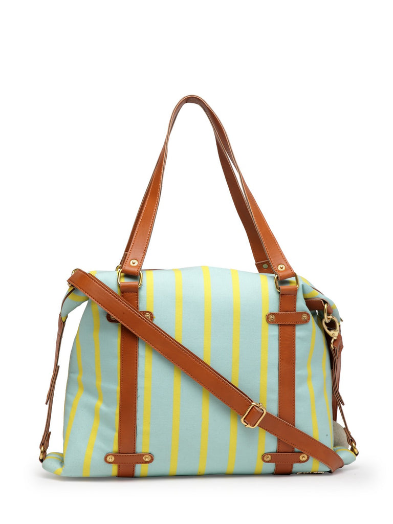 Blue Stripe Hobo Bag