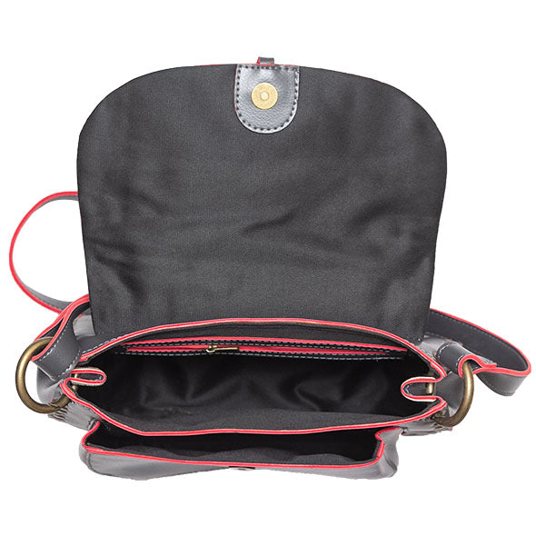 Charcoal Grey Saddle Bag