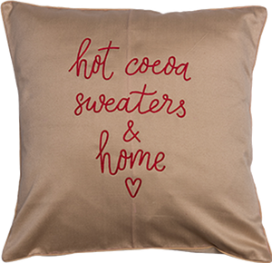 Hot Cocoa Beige Cushion Cover