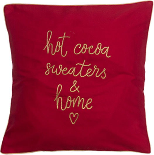 Hot Cocoa (Red) Cushion Cover