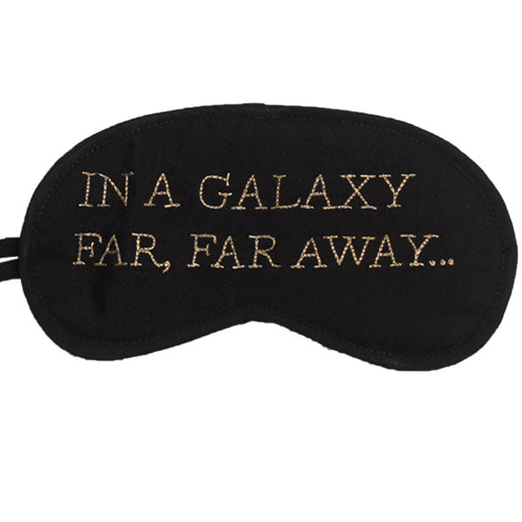 In A Galaxy Far (Black) Eye Mask