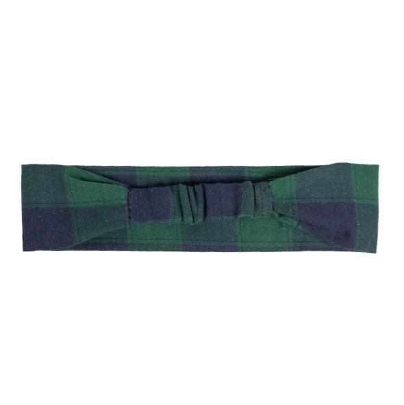 Green Plaid Headband