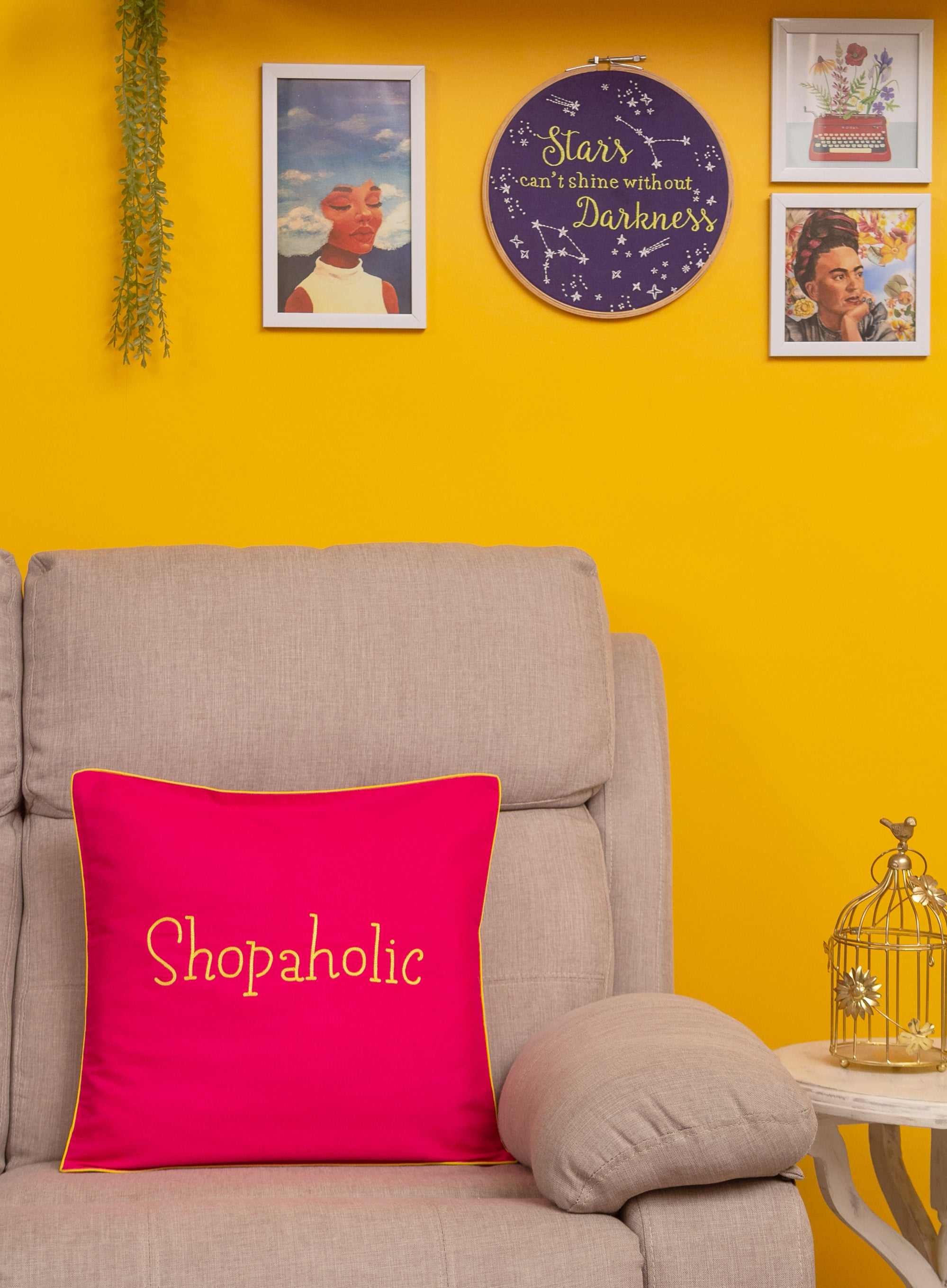 Shopaholic Cushion Cover