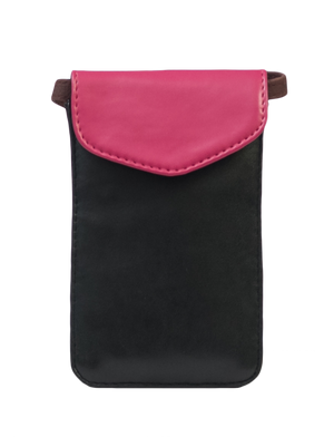 Pink & Black Mobile Sling Bag