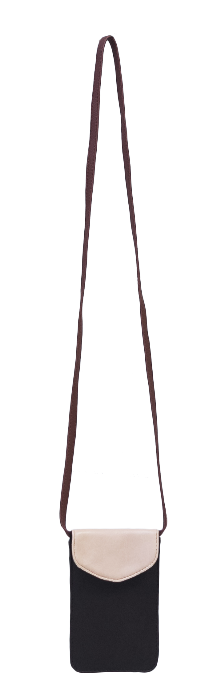 Chocolate Brown Mobile Sling Bag