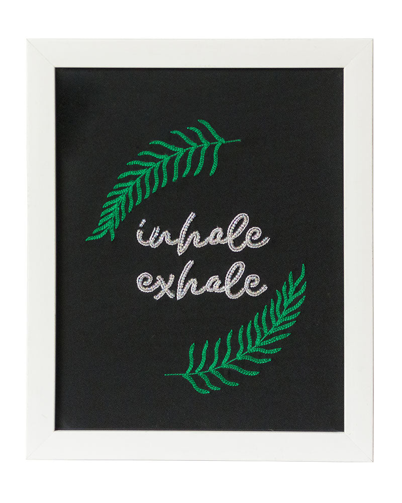 Inhale And Exhale Wall Frame
