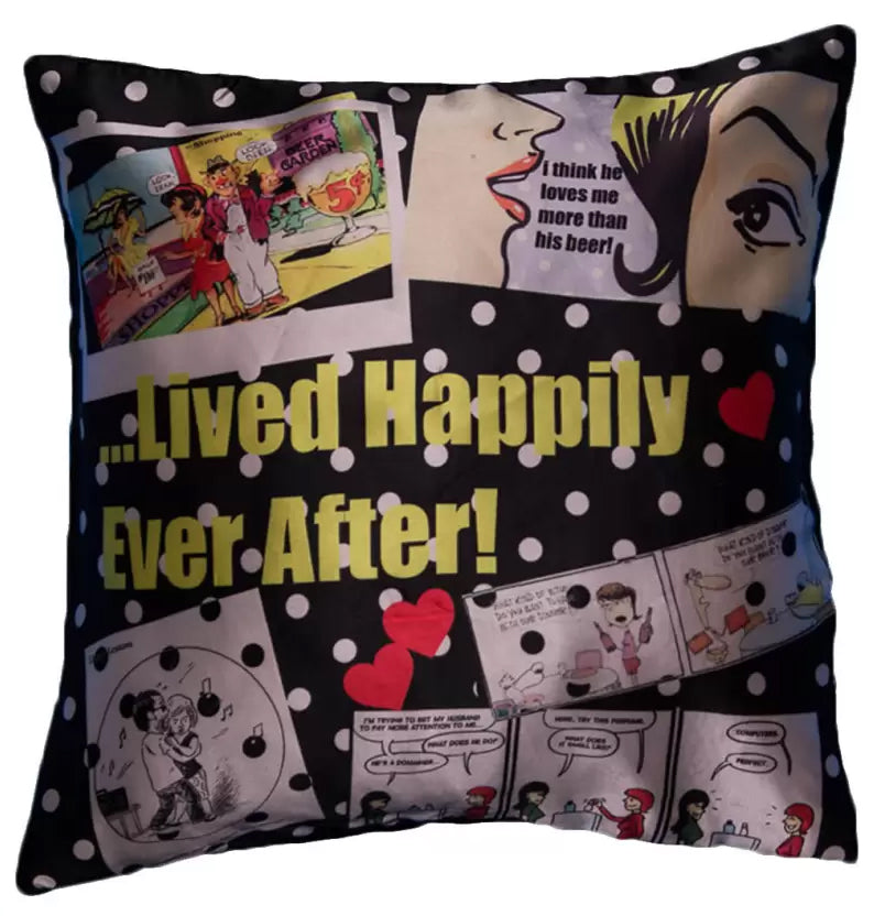 Lived Happily Digital Cushion Cover