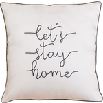 Let's Stay Home (White) Cushion Cover