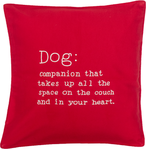 Dog Companion (Red) Cushion Cover
