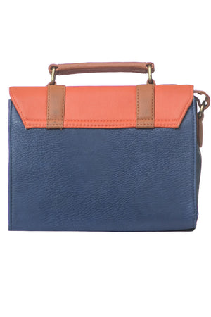 Orange & Blue Box Bag
