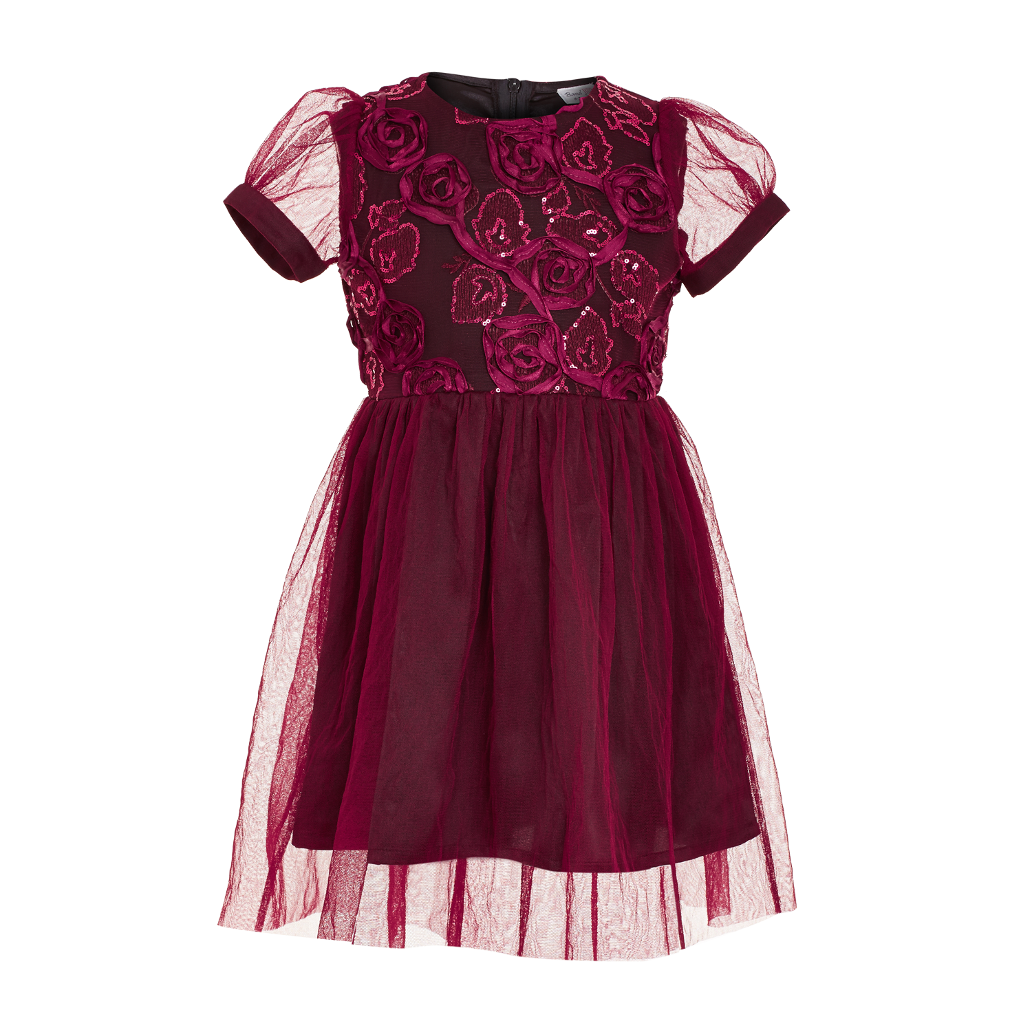 Maroon Rose Dress