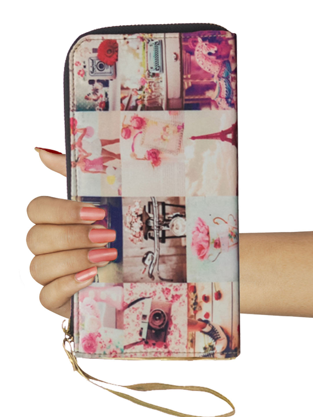 Pink Collage Wallet