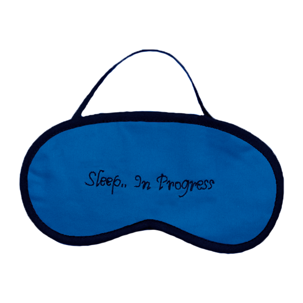 Sleep In Progress (Blue) Eye Mask